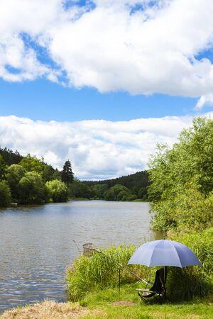 fishing on the Vltava river, Czech Republic