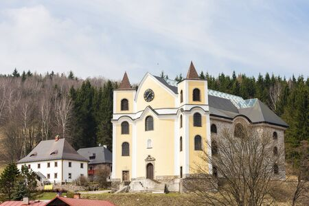 Church in Neratov, Orlicke mountains, Czech Republic