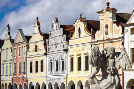 square in Telc, Czech Republic