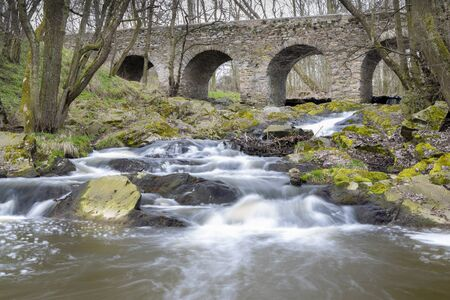 Baroque Bridge, Tousice, Czech Republic Stock Photo