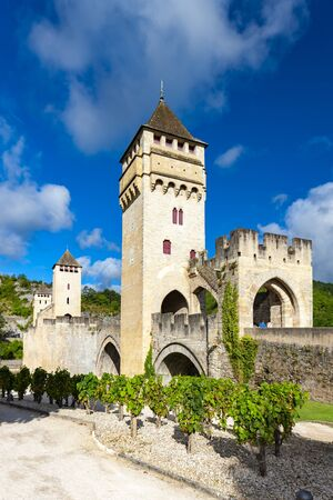 Pont Valentre across the Lot River in Cahors south west France Stock Photo