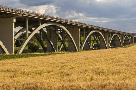 motorway bridge, Spis region, motorway Zilina - Kosice, Slovakia Stock Photo