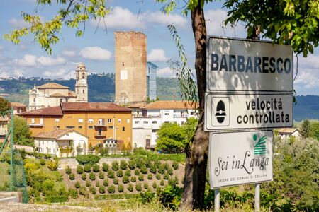 Barbaresco village and vineyards, Unesco Site, Piedmont, Northern Italy