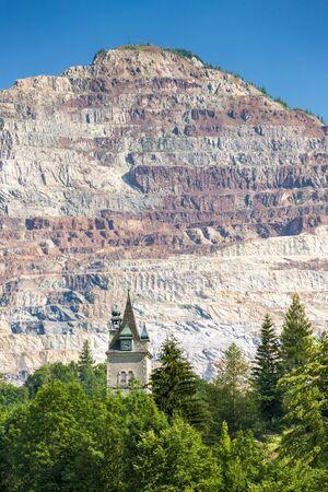 Erzberg iron mine in Styria in Austria Standard-Bild - 140373522