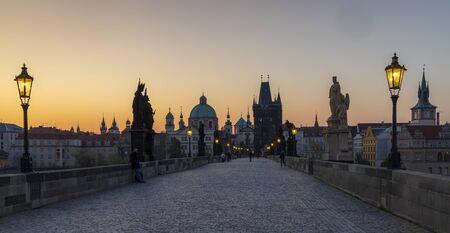 Charles bridge at Sunrise, Prague, Czech Republic