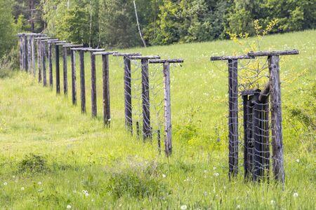 Memorial of Iron Curtain Slavonice - Kadolec in Czech Republic