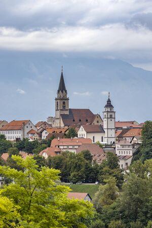 Kranj town with Alps in Slovenia