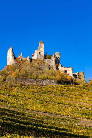 Ruins of Senftenberg, Krems-Land District, Lower Austria, Austria Stock Photo