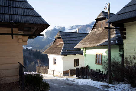Vlkolinec village site in Velka Fatra mountains, Slovakia