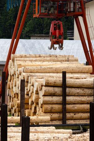 woodworking industry in Alps, Italy 版權商用圖片