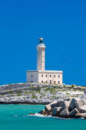 Lighthouse in Vieste, Apulia region, Italy Banque d'images