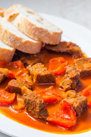 beef goulash with red pepper