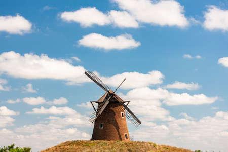 Bagimajor Windmill, Bagimajor, Kengyel, Hungary 写真素材