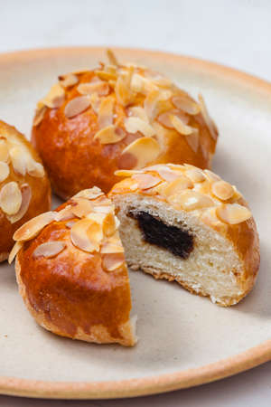 almond pastry filled with plum jam