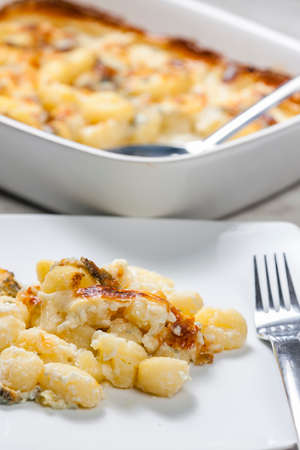 gnocchi baked with blue cheese