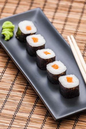 japanese sushi food, view of sushi, all you can eat menu 写真素材