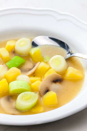 still life of vegetables soup with mushroom 写真素材