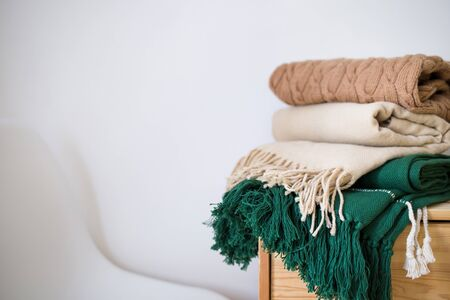 concept of coziness, comfort and warmth at home. Фото со стока