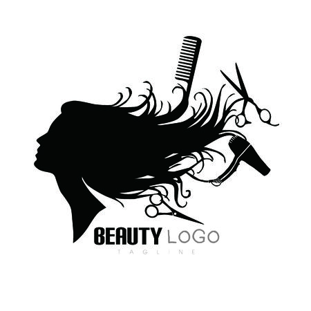 Beauty hair salon logo,salon logo