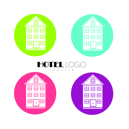 Real Estate and Home logo vector Illustration