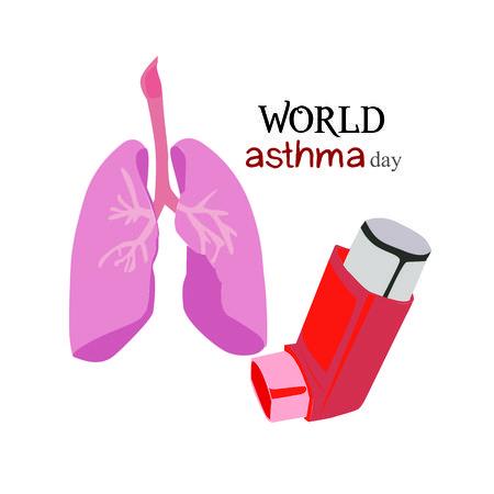 World asthma day illustration on a white background Illustration