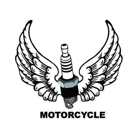 Motorcycle vintage style emblems, logo ,tattoo and prints.