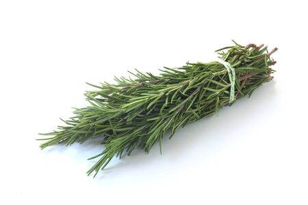 Bunch Of Rosemary Isolated On White Stockfoto