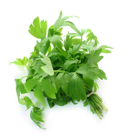 Bunch of Lovage Isolated On White