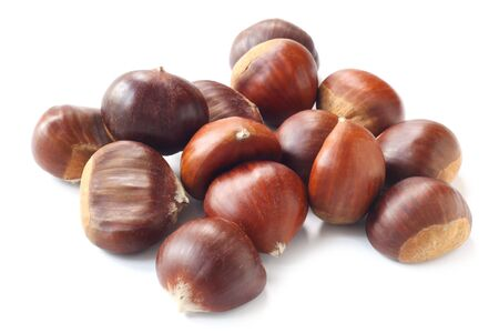 A Pile Of Chestnuts Isolated On White