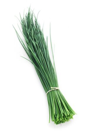 Bunch of Chives Isolated On White