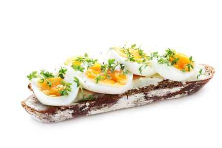 Whole Grain Bread With Egg And Cress