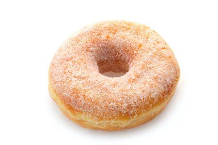 Sugared Doughnut Isolated On White