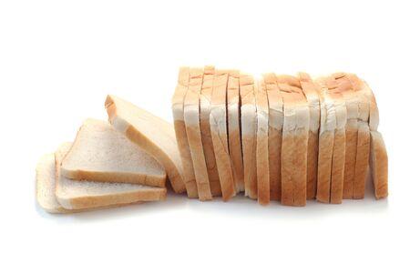 Whole Sliced Toast Loaf Isolated On White