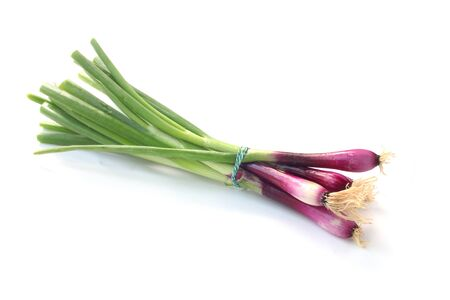 Red Spring Onions Isolated On White 版權商用圖片 - 131956906