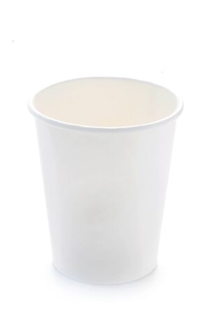 White Paper Cup Isolated On White