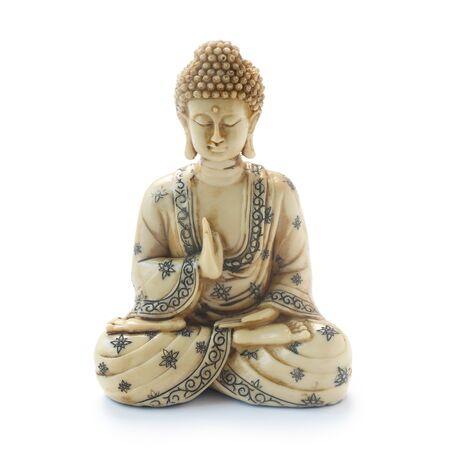 Buddha Figure Isolated On White 写真素材