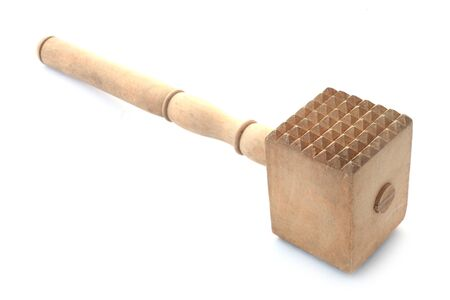 Meat Mallet Isolated On White Stok Fotoğraf