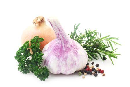 Basic Food Ingredients Isolated On White
