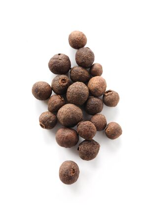 Allspice Berries Isolated On White Stock Photo