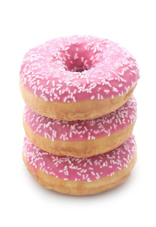 Pink Donuts Isolated On White