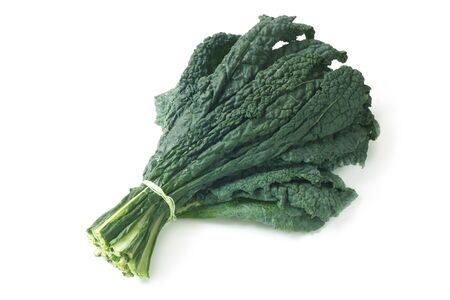 Raw Palm Kale Isolated On White