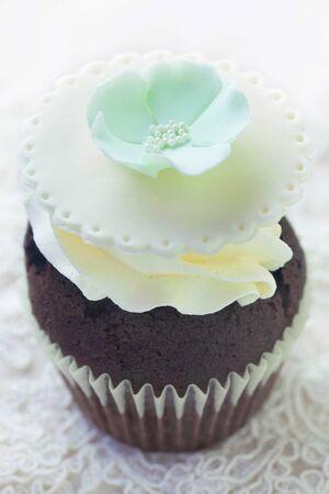Chocolate Cupcake With Dainty Decoration