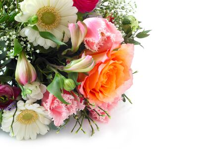 Flower Bouquet On A White Background