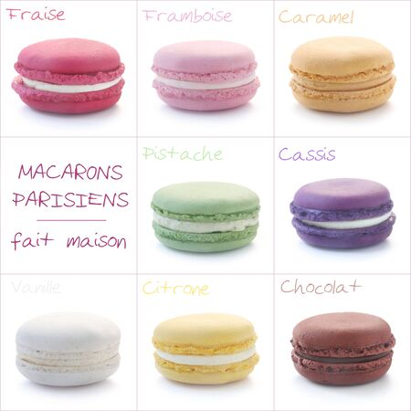 Set Of Various Flavours Of Macarons