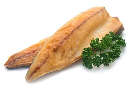 Smoked Trout Fillets Isolated On White 版權商用圖片