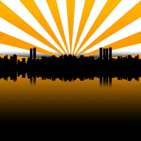 financial district: Big City Skyline Stock Photo