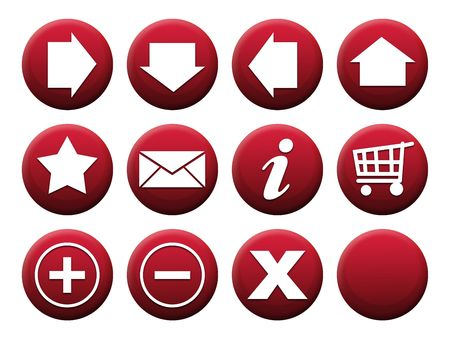 Button Set Red