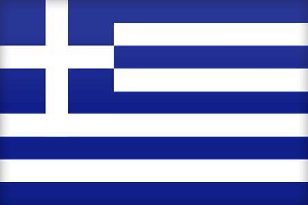 political system: La bandera de Grecia. (Original y oficial proporciones).