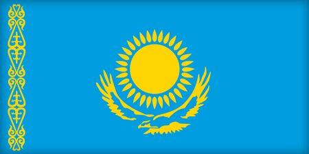 political system: La bandera de Kazajist�n. (Original y oficial de proporciones).
