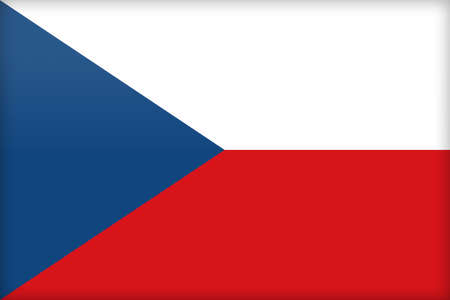 political system: The flag of the Czech Republic. (Original and official proportions).